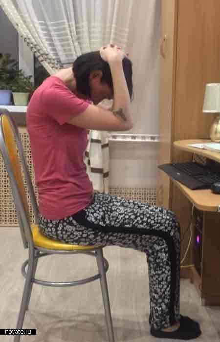 Упражнения для шеи при сидячей работе